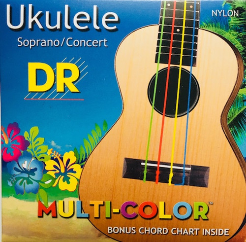 DR Soprano Concert Nylon Multi-Color Ukulele Strings
