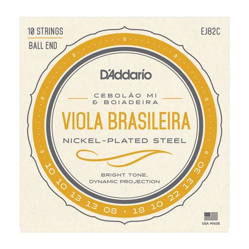 D'Addario EJ82C Viola Brasileira String Set, Cebolao Mi and Boiadeira