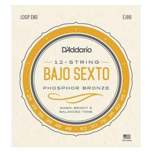 D'Addario EJ86 Bajo Sexto Strings