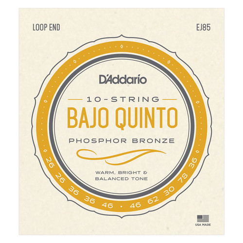 D'Addario EJ85 Bajo Quinto Strings loop end