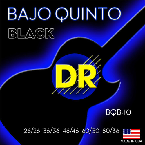 DR Black Baja Quinto Mariachi Strings
