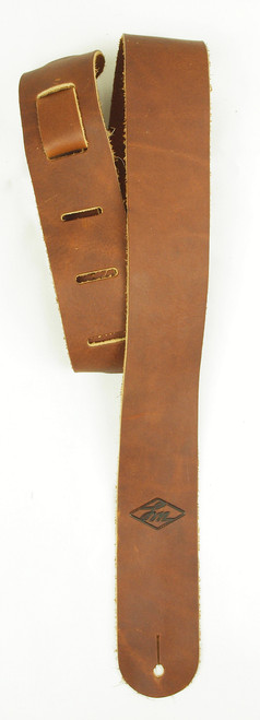 "LM 2"" Glove Leather Brown Guitar Strap"