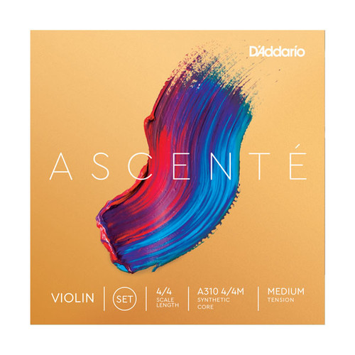 D'Addario Ascente Violin String Set, Medium Tension
