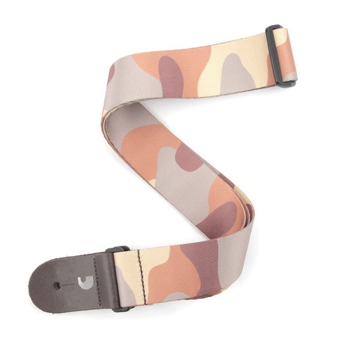 D'Addario Camo - Brown Guitar Strap