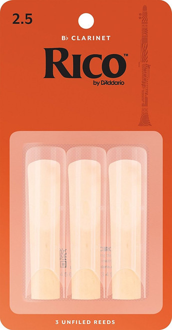 Rico by D'Addario Bb Clarinet Reeds 3-Pack
