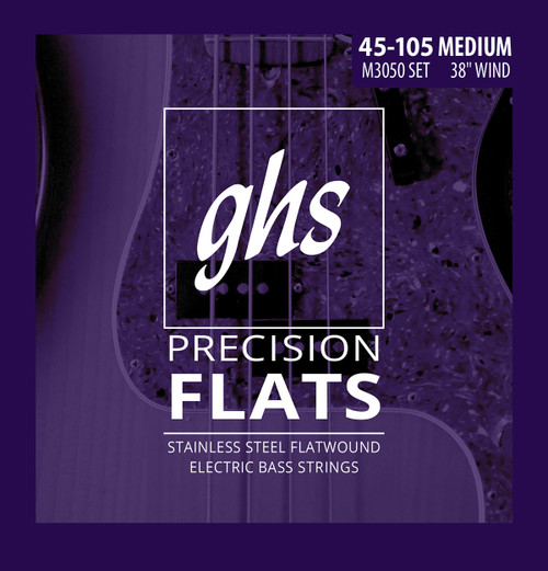 GHS Precision Flats Bass Guitar Strings