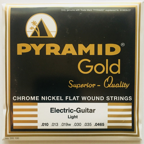 Pyramid Gold Chrome Nickel Flatwound Guitar Strings