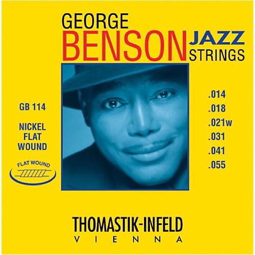 Thomastik-Infeld George Benson Nickel Flatwound Jazz Guitar Strings 14-55