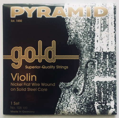Pyramid Gold Violin Strings, full set