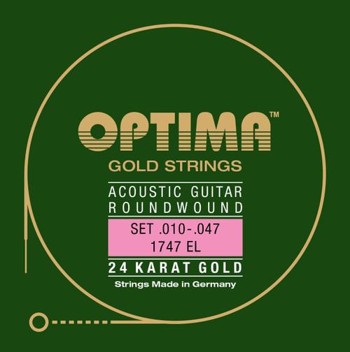 Optima 24K Gold Acoustic Guitar Strings