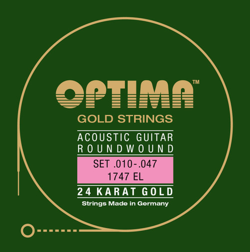 Optima 24K Gold Acoustic Guitar Strings
