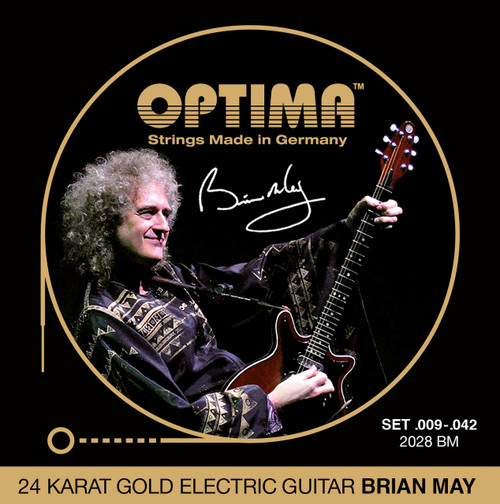 Optima 24K Gold Brian May Electric Guitar Strings