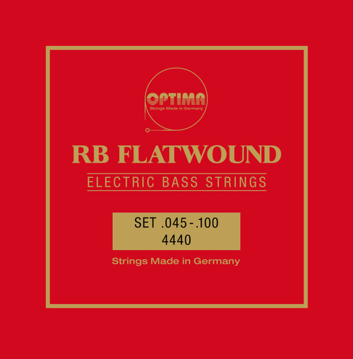 Optima Pure Nickel Flatwound Bass Guitar Strings - long scale