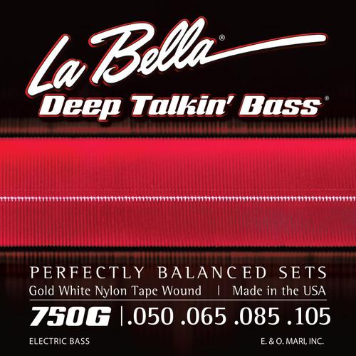 La Bella Deep Talkin' Bass Guitar Strings - Gold White Nylon Tape Wound