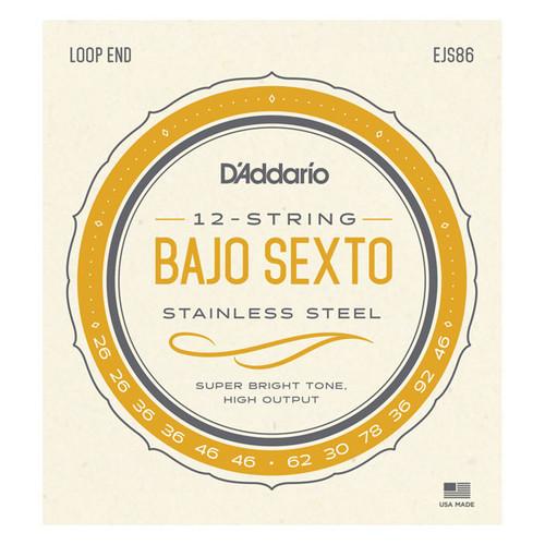 D'Addario Stainless Steel Bajo Sexto Strings