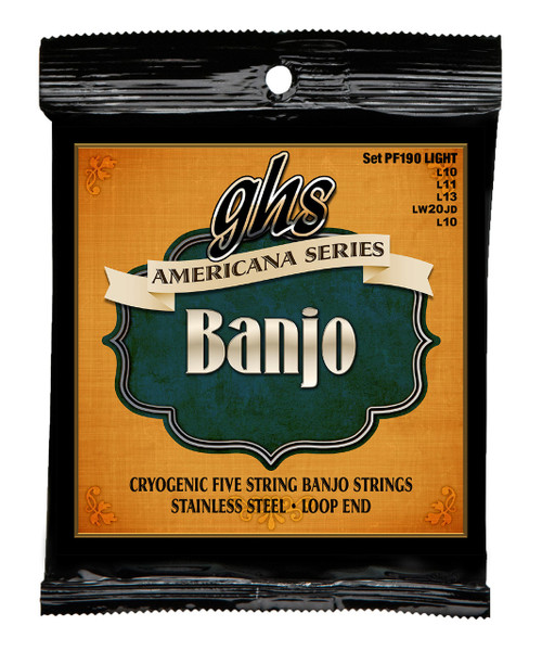 GHS Americana Cryogenic Loop End Banjo Strings
