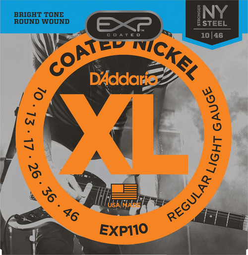D'Addario Coated Nickel Electric Guitar Strings