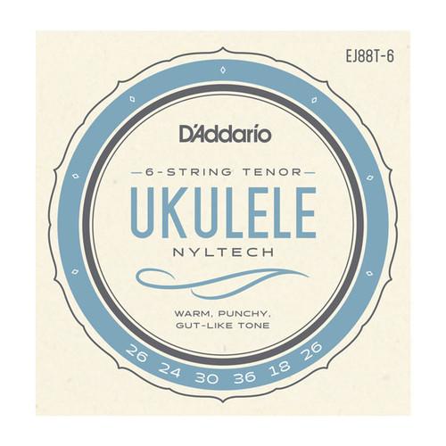 D'Addario Nyltech Ukulele Strings; 6-string Tenor