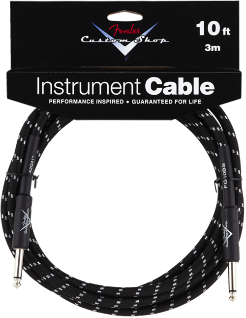 Fender Custom Shop Instrument Cables - Black Tweed