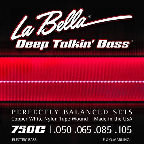 La Bella Deep Talkin' Bass Guitar Strings - Copper White Nylon Tape Wound