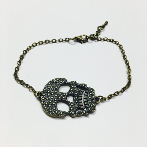 Dainty Chain Skull Bracelet