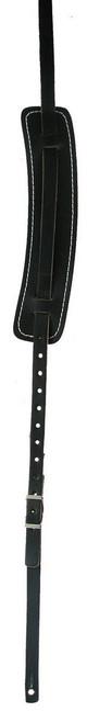 LM Vintage Style Leather Shoulder Pad Guitar Strap - Black
