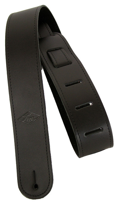 "LM 2"" Leather with detailing Guitar Strap"
