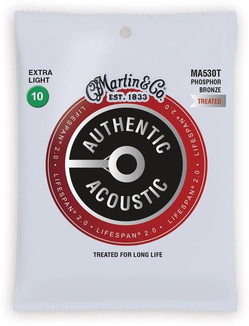 Martin Authentic Acoustic LifeSpan 2.0 Phosphor Bronze Guitar Strings