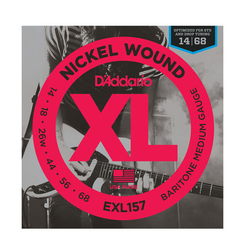 D'Addario XL Nickel Wound Electric Guitar Strings - baritone 14-68