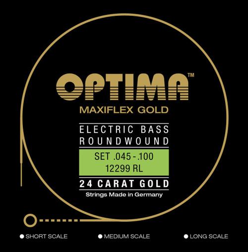 Optima Maxiflex 24K Gold Electric Bass Guitar Strings - long scale 45-100