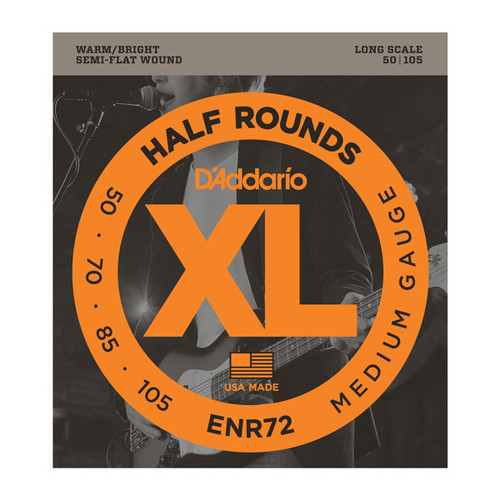 D'Addario XL Half Rounds Bass Guitar Strings 50-105