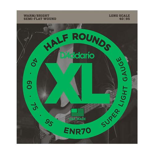 D'Addario XL Half Rounds Bass Guitar Strings 40-95