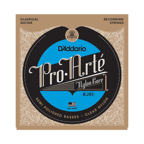 D'Addario Pro Arte Nylon Core Classical Guitar Strings - recording strings EJ51