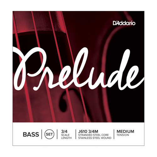 Prelude Bass String Set, 3/4 Scale, Medium Tension