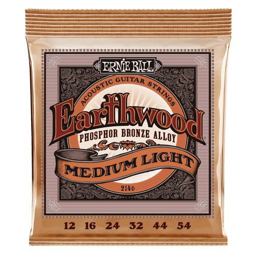 Ernie Ball Earthwood Phosphor Bronze Acoustic Guitar Strings - 3-Pack