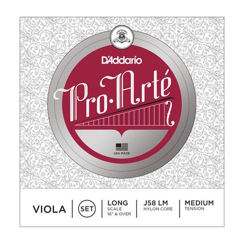D'Addario Pro Arte Viola Strings - Long Scale, Medium Tension