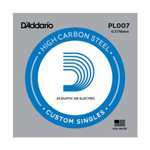 D'Addario Plain Steel Single Strings