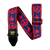 Ernie Ball Jacquard Guitar Strap - Peace Love Doves red/blue