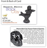 Mexico and Central America Large Black Clay Mermaid Holding Turtle from Oaxaca, Mexico
