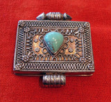 India and Asia Vintage Tibet Gau Box - Silver Amulet Container
