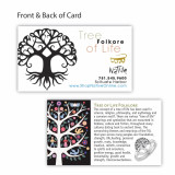 India and Asia Mini Tree Of Life Ring - Sterling Silver
