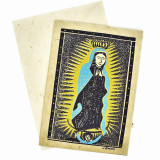 India and Asia Handmade Guadalupe Notecard by Jose Francisco Borges