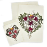 Mexico and Central America Pressed Flower Heart Notecards from El Salvador