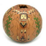 Native American Large Detailed Yei Pot by Dine Navajo Artist Kenneth White