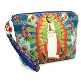 India and Asia Embellished Virgin de Guadalupe Wristlet Clutch