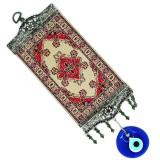 Turkey Mini Wide Turkish Carpet Evil Eye Wall Hanging, from Turkey