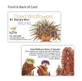 Mexico and Central America Pressed Delicate Flower Heart Notecards from El Salvador