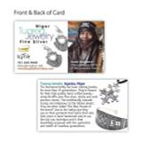 Africa Tuareg Fine Silver Hoop Tisbit Earrings by Elhadji Koumama