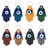 Turkey Leatherette Hamsa Evil Eye Key Chain