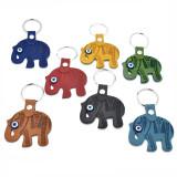 Turkey Leatherette Elephant Evil Eye Key Chain